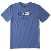 Life is Good Men's Americana Camp Crusher Short-Sleeve T-Shirt