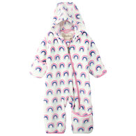 Hatley Infant/Toddler Girls' Pretty Rainbows Fuzzy Fleece Baby Bundler