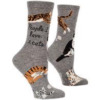 Blue Q Women's People I Love: Cats Crew Sock