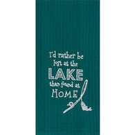 Kay Dee Designs At The Lake Embroidered Waffle Towel