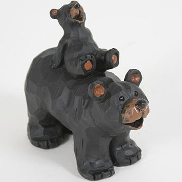 Slifka Sales Co Bear And Cub Piggy Back Figurine