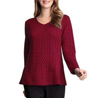 Habitat Women's Pucker Knit V-Neck Long-Sleeve Top