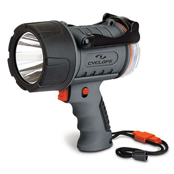 Cyclops Waterproof 300 Lumen LED Rechargeable Handheld Spotlight