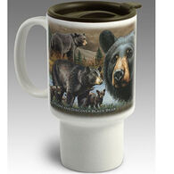 American Expedition Black Bear Stoneware Travel Mug