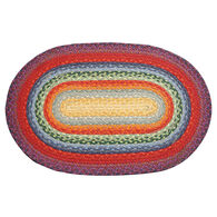 Capitol Earth Oval Rainbow Braided Rug