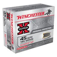 Winchester Super-X 45 Automatic 185 Grain Silvertip JHP Handgun Ammo (20)
