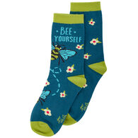 Karma Women's Bee Yourself Crew Sock