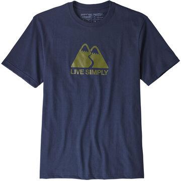 Patagonia Mens Live Simply Winding Responsibili-Tee Short-Sleeve T-Shirt