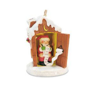 Cape Shore Outhouse Santa Ornament