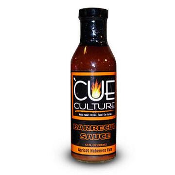 'Cue Culture Apricot Habanero Rum Barbecue Sauce, 12 oz.