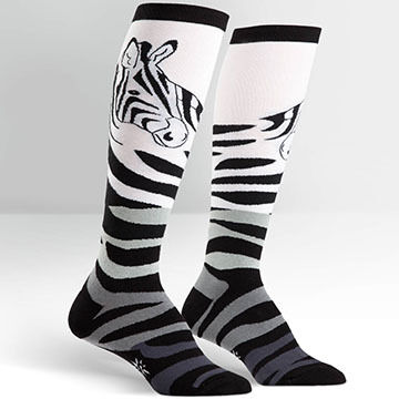 Sock It To Me Womens Zebra Sock