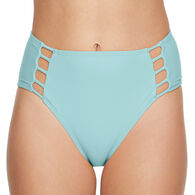 Sol Collective Women's Solid High Waist Swimsuit Bottom