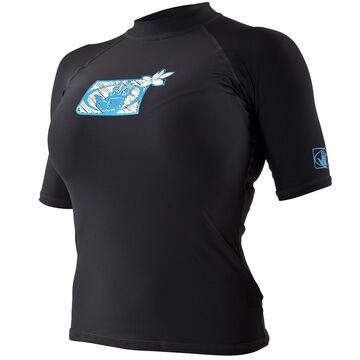 Body Glove Womens Basic Lycra Short-Sleeve Rashguard