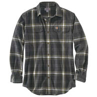 Carhartt Men's Big & Tall Hubbard Plaid Flannel Long-Sleeve Shirt