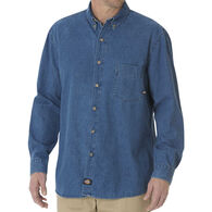 Dickies Men's Denim Button-Down Long-Sleeve Shirt