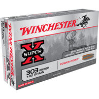 Winchester Super-X 303 British 180 Grain Power-Point Rifle Ammo (20)