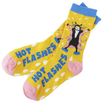 Hatley Little Blue House Womens Hot Flashes Crew Sock