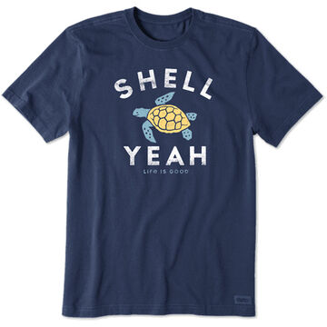 Life is Good Mens Shell Yeah Crusher Short-Sleeve T-Shirt