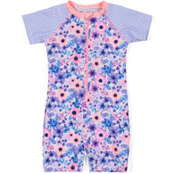Noruk Infant Girl's Floral One-Piece Rashguard