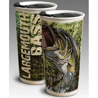 American Expedition Double Walled Large Mouth Bass Ceramic Travel Mug