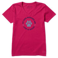 Life is Good Women's Rescue Hearts Crusher Vee Short-Sleeve T-Shirt