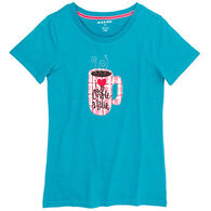 Hatley Women's Morning Coffee Short-Sleeve Shirt