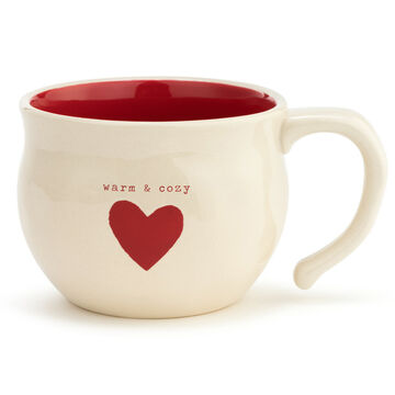 DEMDACO Warm & Cozy Heart Soup Bowl