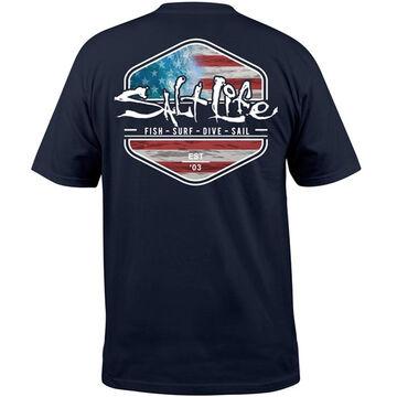 Salt Life Mens Ameriseas Short-Sleeve T-Shirt
