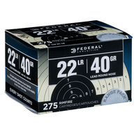 Federal Premium 22 LR 40 Grain LRN Rimfire Ammo (275)