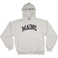 A.M. Men's Maine Arch Design Long-Sleeve Hooded Sweatshirt