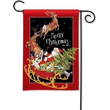 BreezeArt Santas Sleigh Garden Flag