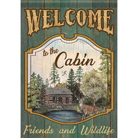 Carson Home Accents Flagtrends Welcome To The Cabin Garden Flag