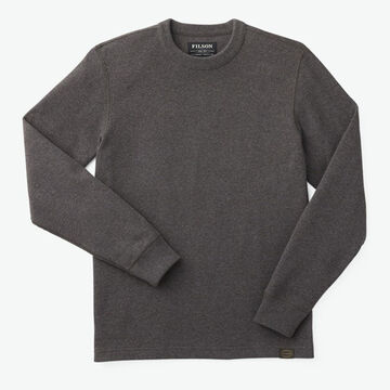 Filson Mens Waffle Knit Thermal Long-Sleeve Crew Top