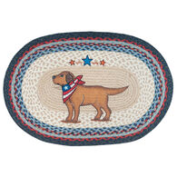 Capitol Earth Yellow Lab Oval Patch Rug