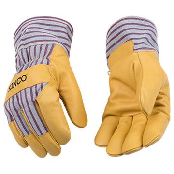 Kinco Mens Lined Grain Pigskin Glove with Safety Cuff