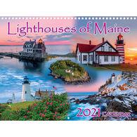 Maine Scene Lighthouses of Maine 2021 Wall Calendar