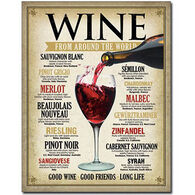 Desperate Enterprises Wine Around The World Tin Sign