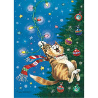 LPG Greetings Swinging Cat Boxed Christmas Cards