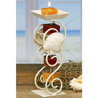 DECO FLAIR Seashell Candle On A Rope Candle Holder