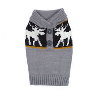 Casual Canine Moose Print Dog Sweater