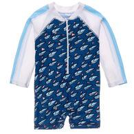 Snapper Rock Swimwear Infant Boy's Opti Boats Long-Sleeve Sunsuit