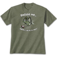 Earth Sun Moon Trading Men's Excuse Me Bass Short-Sleeve T-Shirt