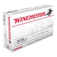 Winchester USA 308 Winchester 147 Grain FMJ Rifle Ammo (20)