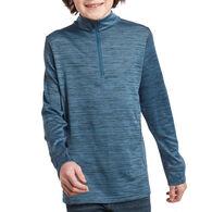 Kuhl Boy's Alloy Quarter-Zip Long-Sleeve Pullover Top