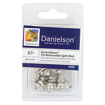 Danielson EnviroQuest Tin Removable Split-Shot Sinker
