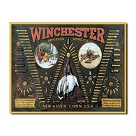 Desperate Enterprises Winchester Bullet Board Tin Sign
