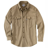Carhartt Men's Big & Tall Sandstone Twill Long-Sleeve Shirt