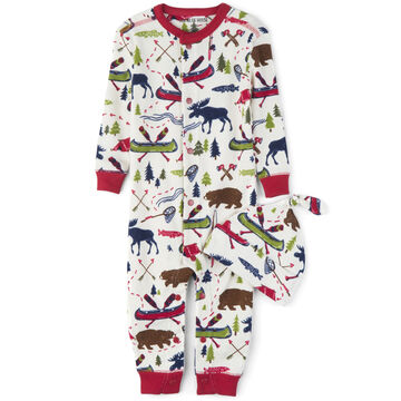 Hatley Infant Boys Little Blue House Sketch Country Coverall with Hat