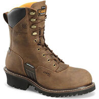 "Carolina Men's 8"" Waterproof Insulated Steel Toe Logger Work Boot, 400g"