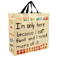 Blue Q Women's I'm Only Here Because I Eat Shopper Tote Bag